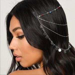 Silver Hair Head Chain